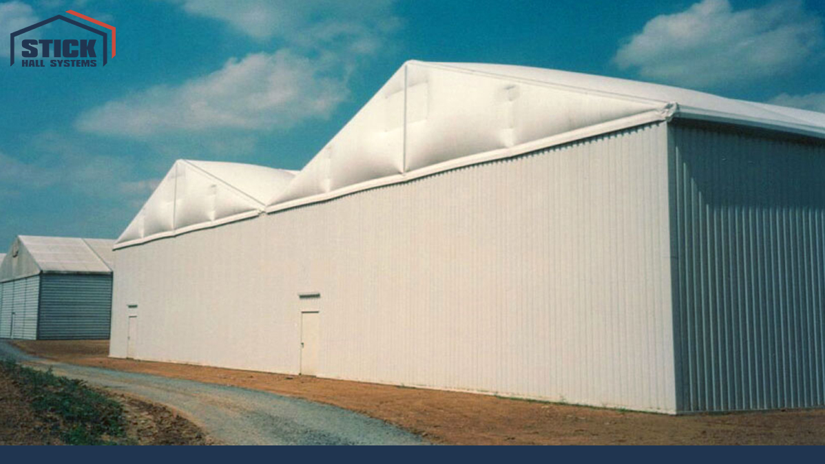 Zelthalle mit Doppeldach