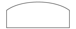 Bogendach bei der Zelthalle