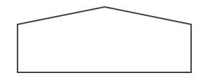 Satteldach bei der Zelthalle