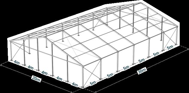Konstrukcja hali namiotowej