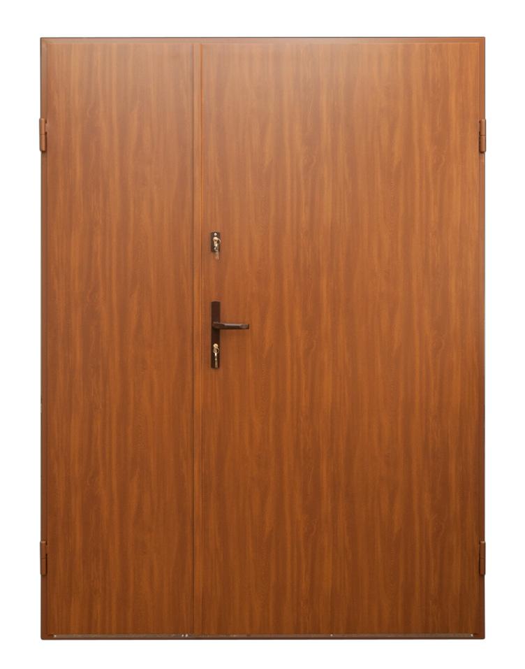 Stalowe drzwi dwuskrzydłowe