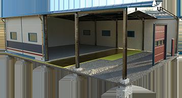 Stahlhallen - Konstruktion - Stick Hale